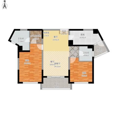 浦江海景2室1厅2卫1厨152.00㎡户型图