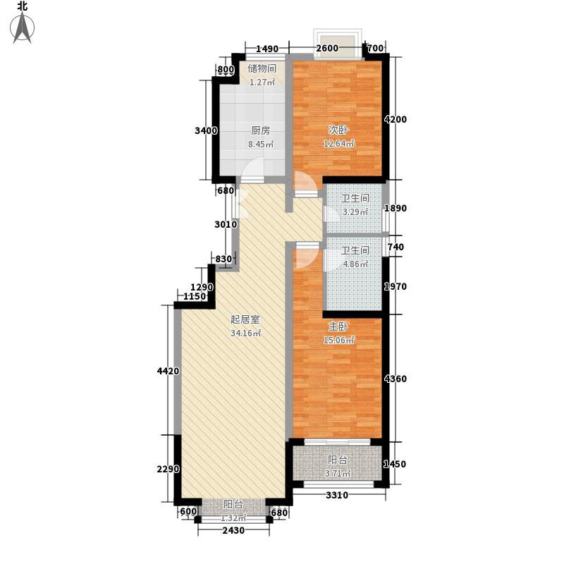 省七建耿家庄住宅小区两室两厅两卫2户型2室