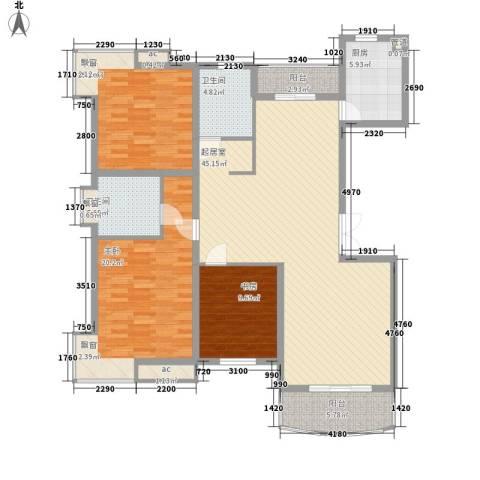 夏阳湖国际花园3室0厅2卫1厨133.00㎡户型图