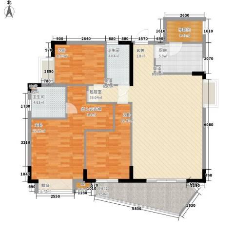 阳光澳园3室0厅2卫1厨123.00㎡户型图