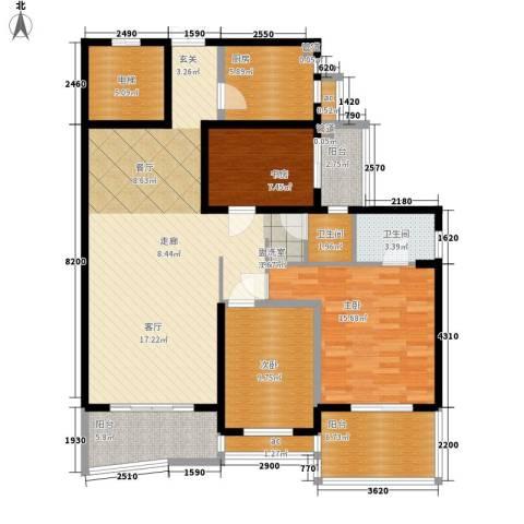 香格里嘉园3室0厅2卫1厨159.00㎡户型图