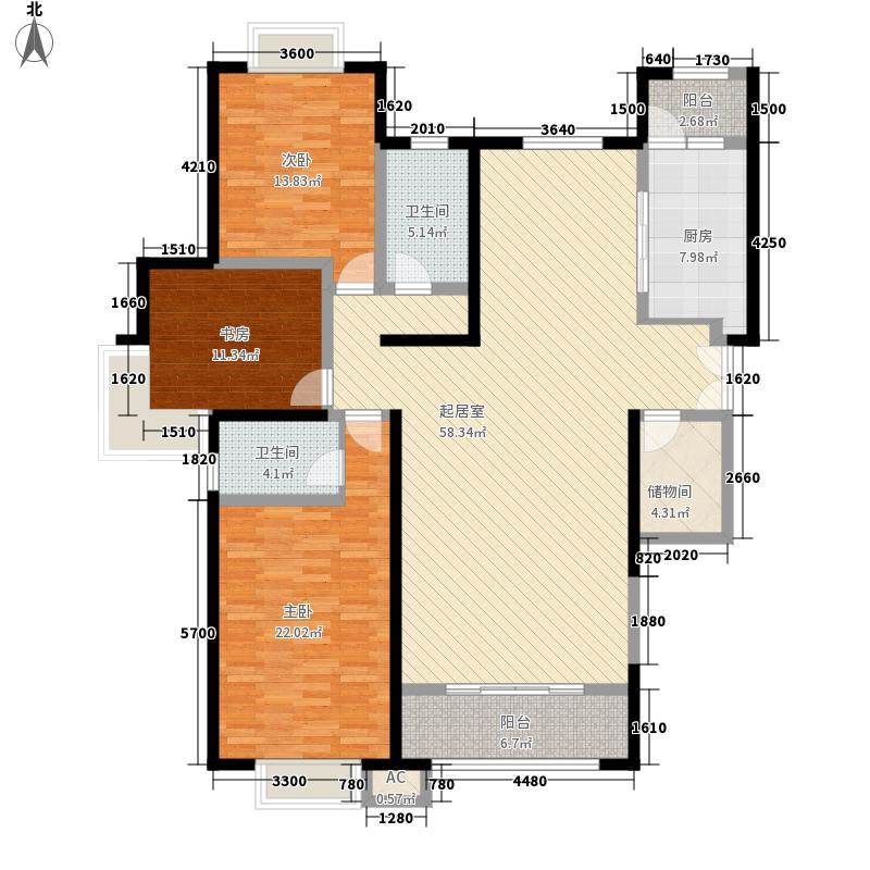 省七建耿家庄住宅小区三室两厅两卫1户型3室