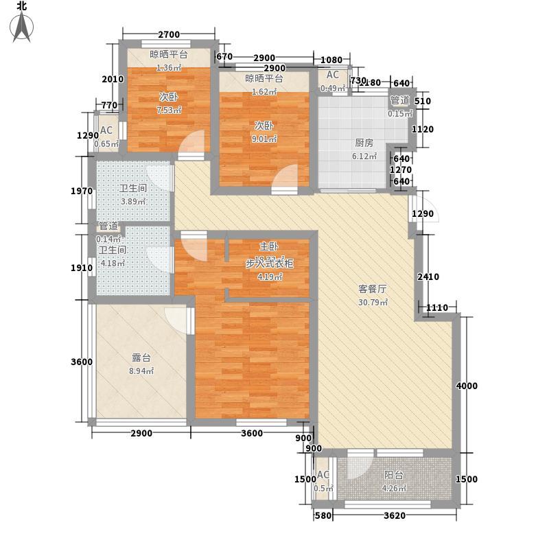 永定河孔雀城英国宫11.00㎡C户型3室2厅2卫1厨