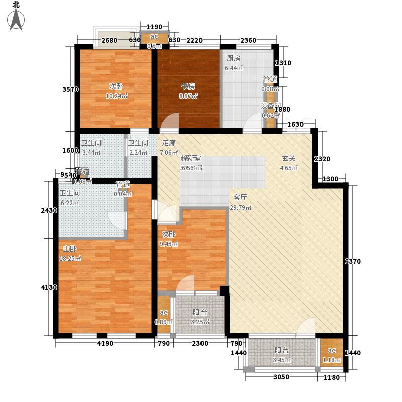 领秀新硅谷156.00㎡情景洋房2F户面积15600m户型