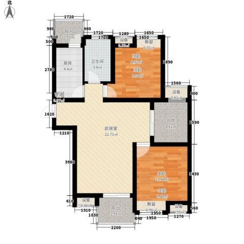 百大春城2室0厅1卫1厨92.00㎡户型图
