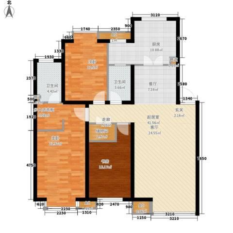 金穗花园(皇姑)3室0厅2卫1厨164.00㎡户型图
