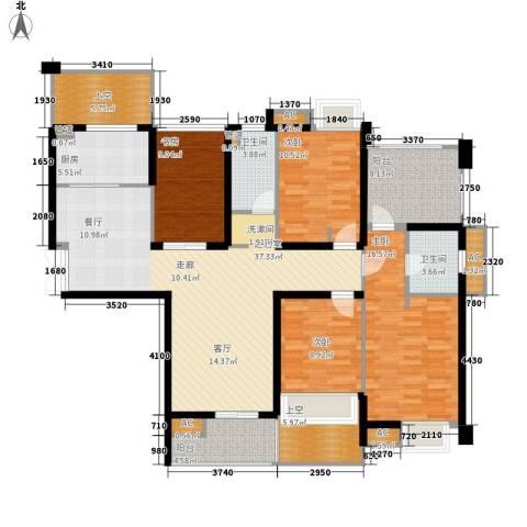 赞成美林4室0厅2卫1厨134.00㎡户型图