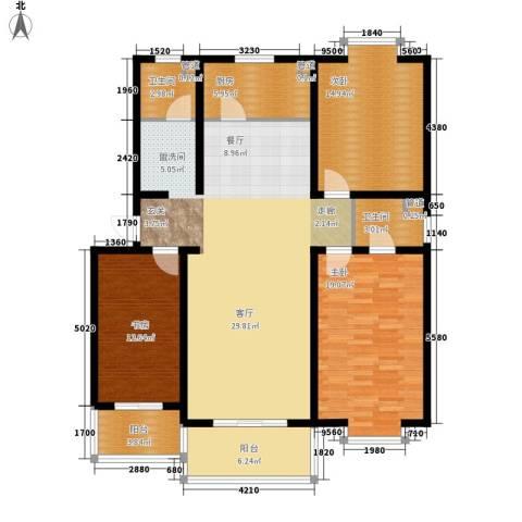 康馨雅苑二期3室0厅2卫1厨154.00㎡户型图
