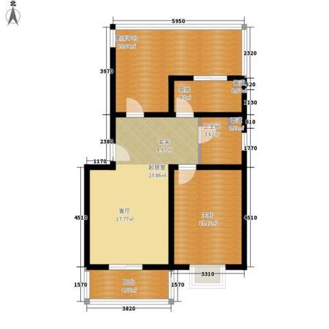 康馨雅苑二期1室0厅1卫1厨95.00㎡户型图