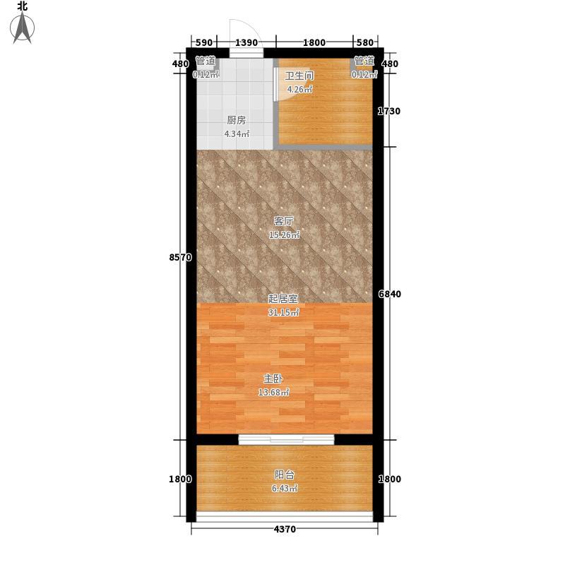 康馨雅苑二期户型2户型1室1厅