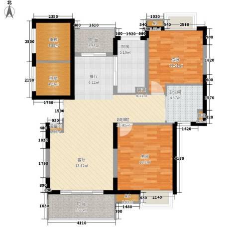 万源城乐斯生活会馆2室0厅1卫1厨98.00㎡户型图