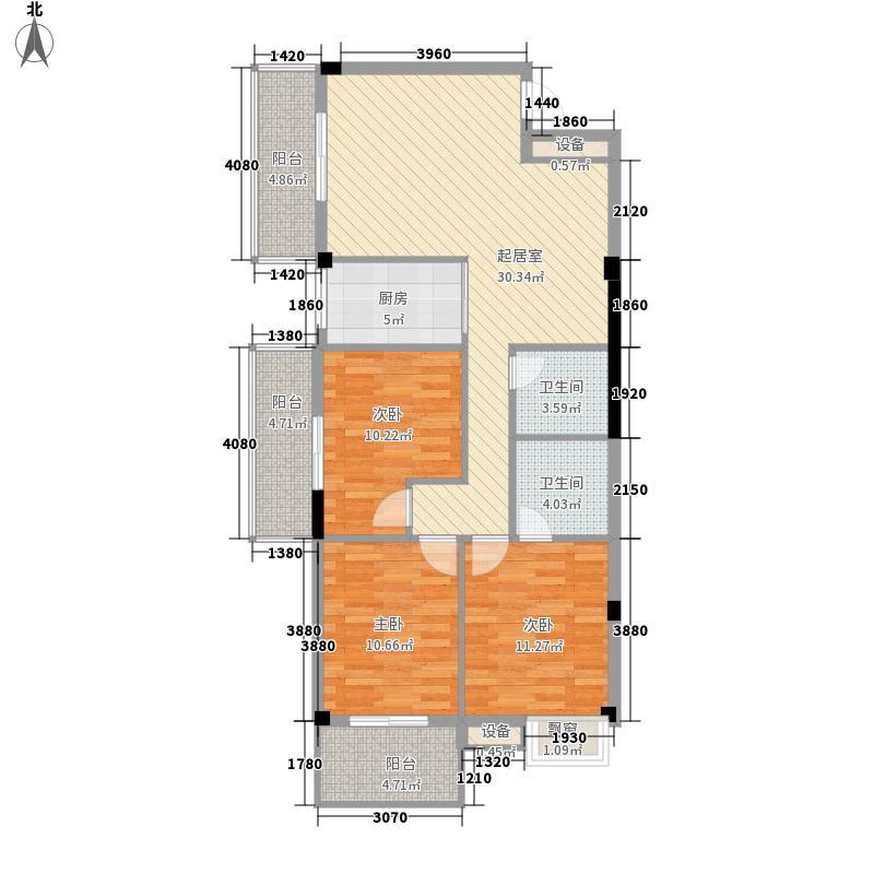 三坊世家128.00㎡三坊世家户型图3室2厅2卫1厨户型10室