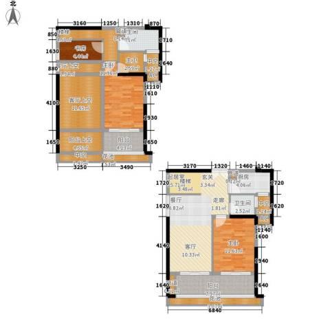 ECO城3室0厅2卫1厨134.00㎡户型图