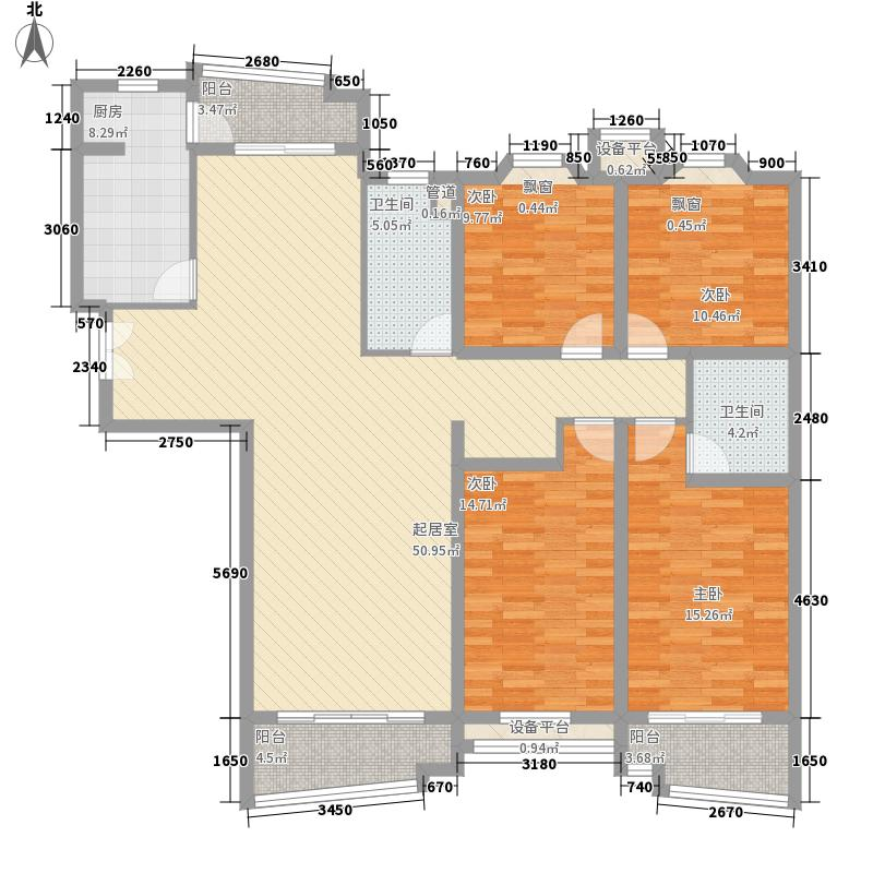 大同花园190.00㎡大同花园4室户型4室