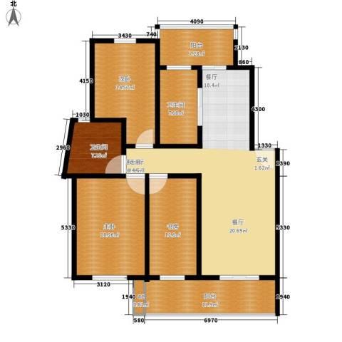 世纪城国际公馆一期3室1厅2卫0厨142.00㎡户型图