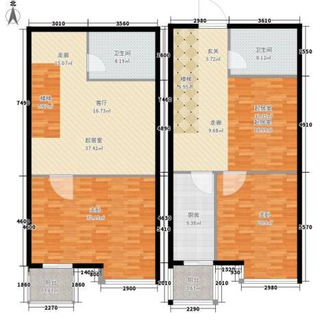 都市e线2室0厅2卫1厨158.75㎡户型图