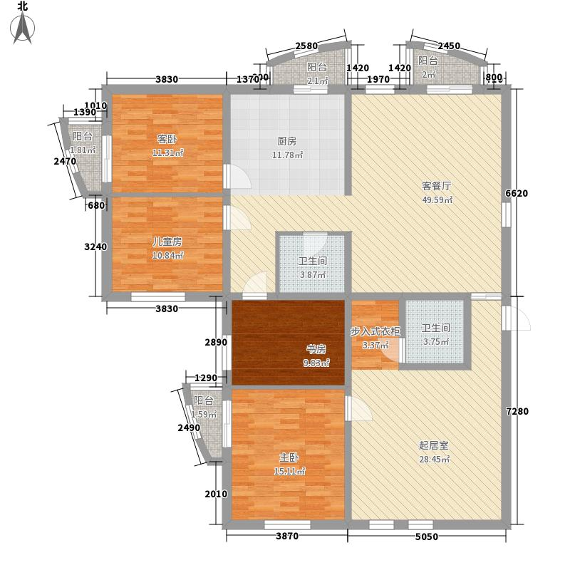 星河国际极品人生户型3室2厅2卫1厨