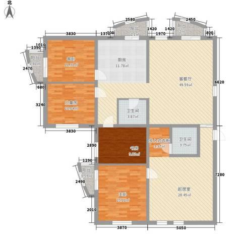 星河国际4室1厅2卫0厨200.00㎡户型图