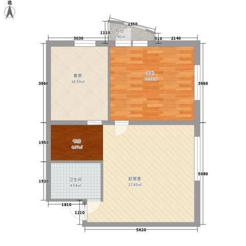 星河国际1室0厅1卫0厨84.00㎡户型图