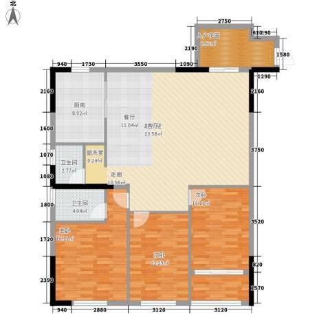 泓泰国际3室0厅2卫1厨159.00㎡户型图