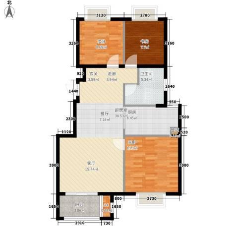 金光大道3室0厅1卫1厨88.00㎡户型图