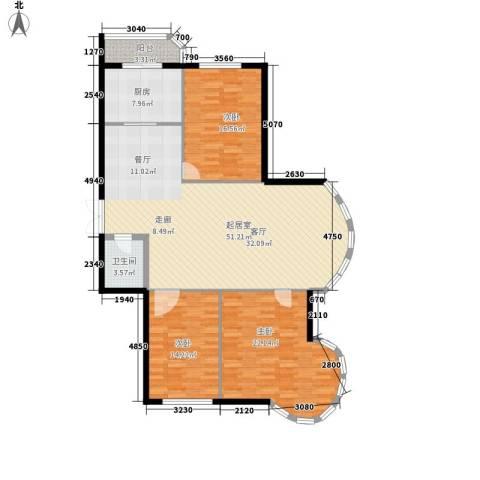 绿苑小区3室0厅1卫1厨130.00㎡户型图