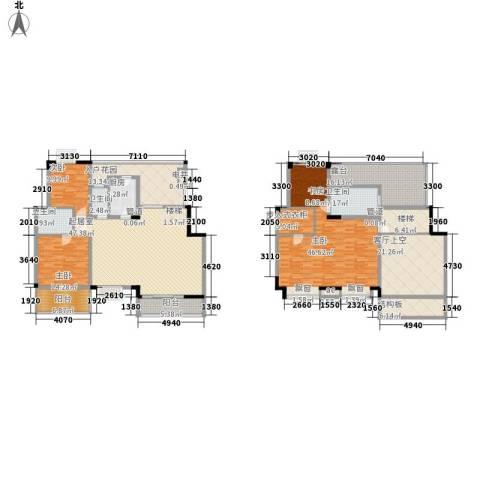 南峰玫瑰园3室0厅3卫1厨219.92㎡户型图