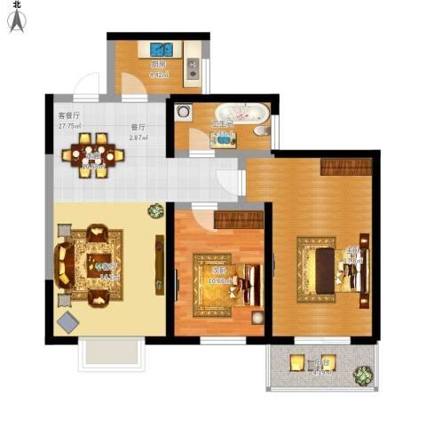 太乙城2室1厅1卫1厨99.00㎡户型图
