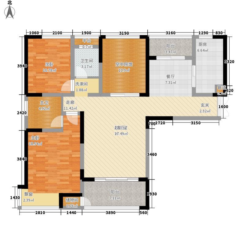 金科新大陆125.00㎡金科新大陆户型图G06户型2室2厅2卫户型2室2厅2卫
