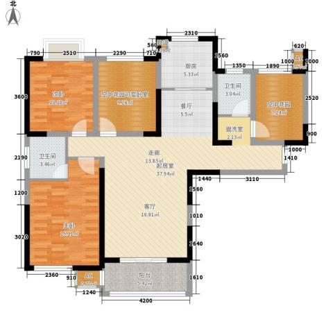 经典华城一期梧桐语2室0厅2卫1厨127.00㎡户型图