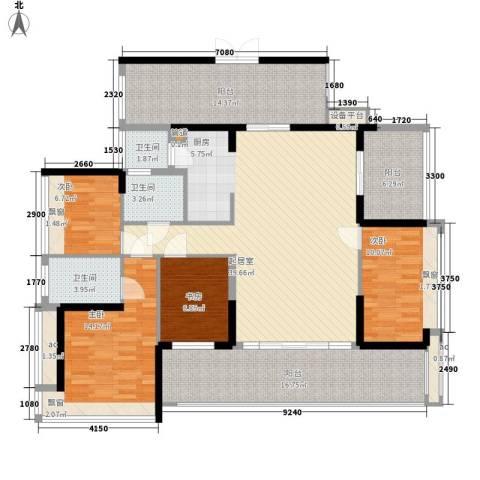 潜龙曼海宁二期4室0厅3卫0厨181.00㎡户型图