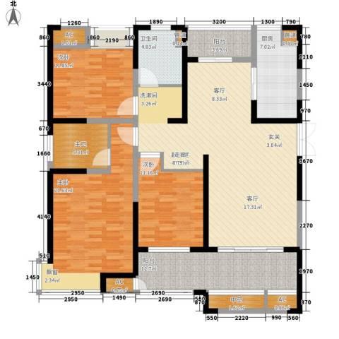 金科新大陆3室0厅1卫1厨143.00㎡户型图