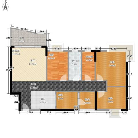 石龙旧城区住宅3室0厅2卫1厨101.69㎡户型图