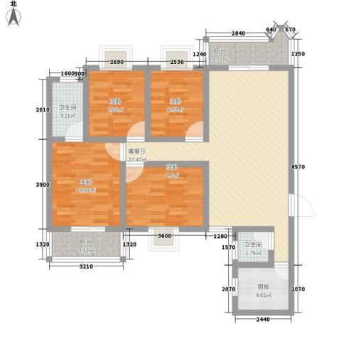 科教新村4室1厅2卫1厨113.00㎡户型图
