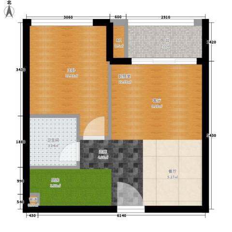 华毅花园1室0厅1卫0厨80.00㎡户型图