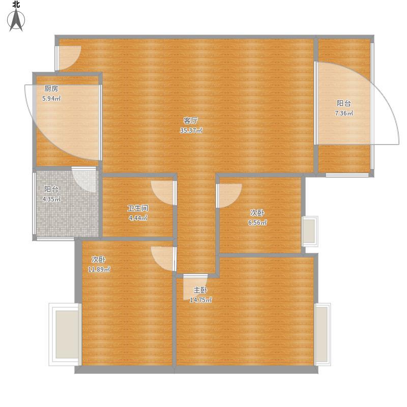 泰景山城92平-设计方案