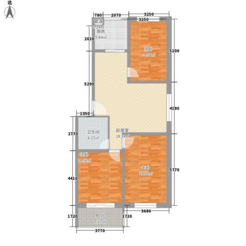 天长嘉园3室0厅1卫1厨108.00㎡户型图