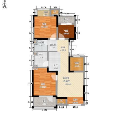荣盛楠湖郦舍3室0厅1卫1厨93.00㎡户型图