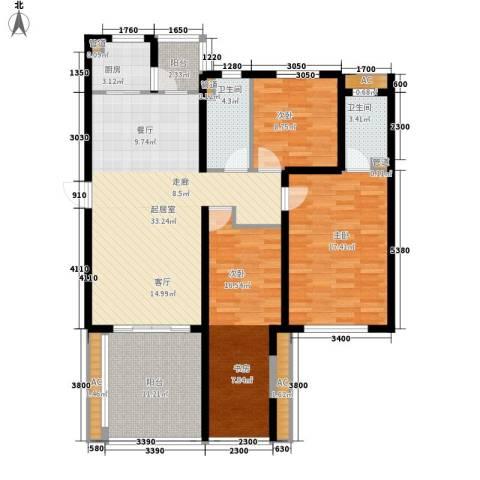 佳和新城六期3室0厅2卫1厨138.00㎡户型图