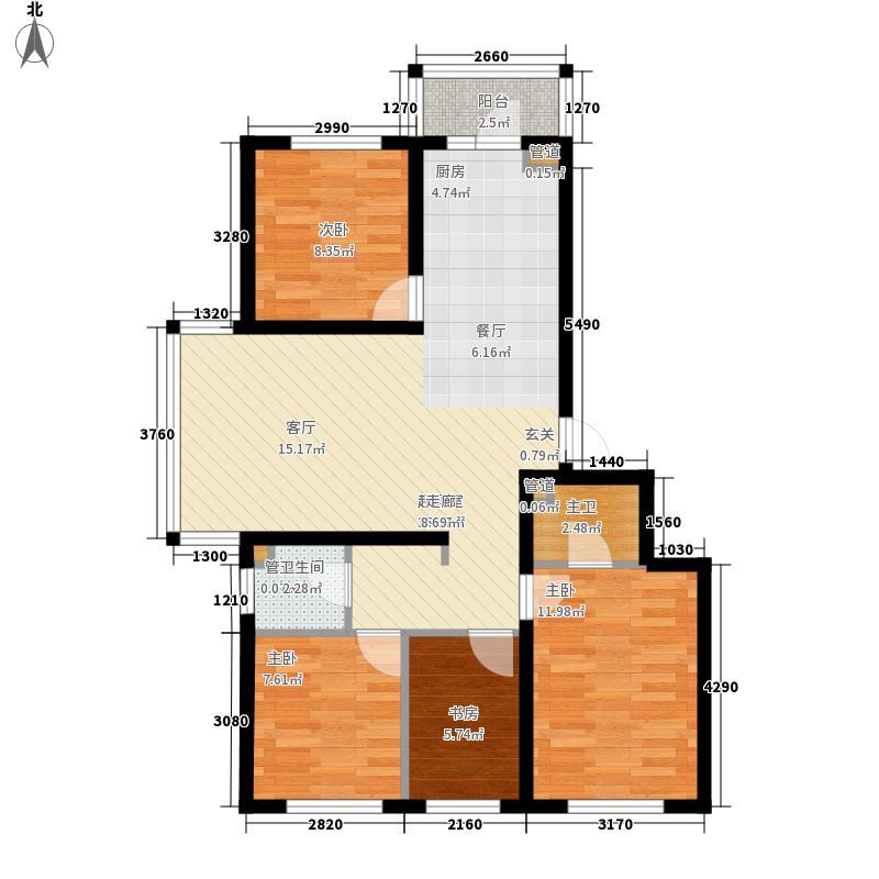 熙郡印象户型图D7-2户型 4室1厅2卫1厨