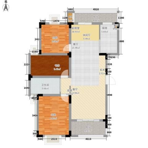 宏图上逸园3室0厅1卫1厨118.00㎡户型图