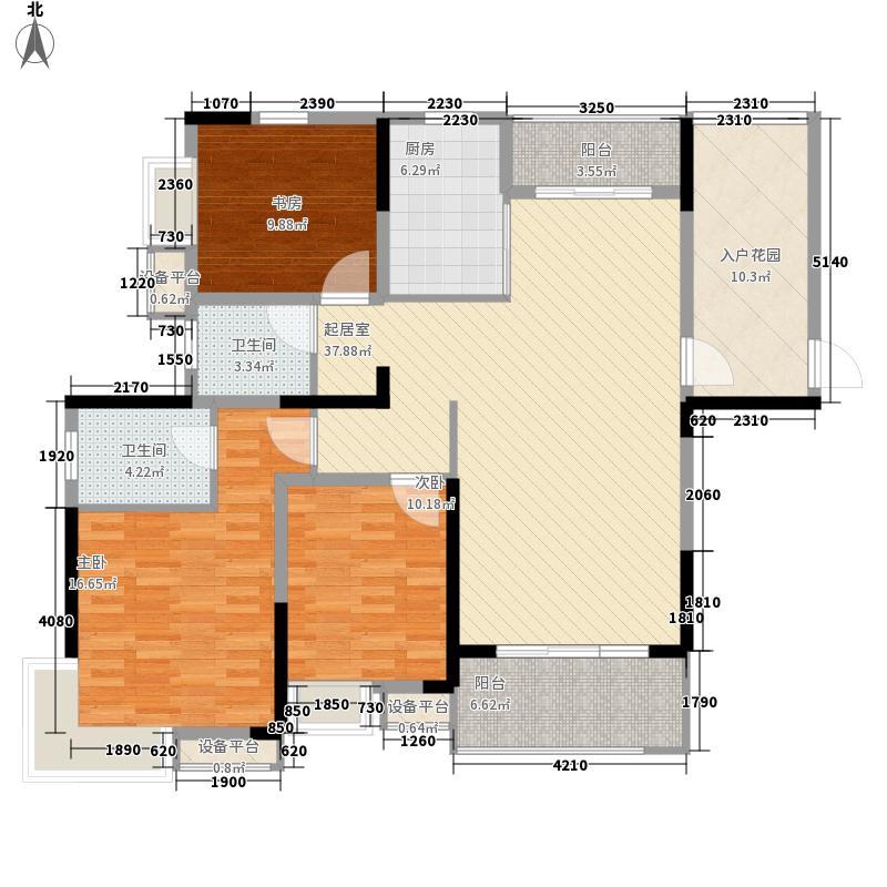 绿地臻城126.00㎡绿地臻城户型图一期1号楼D4户型3室2厅2卫1厨户型3室2厅2卫1厨