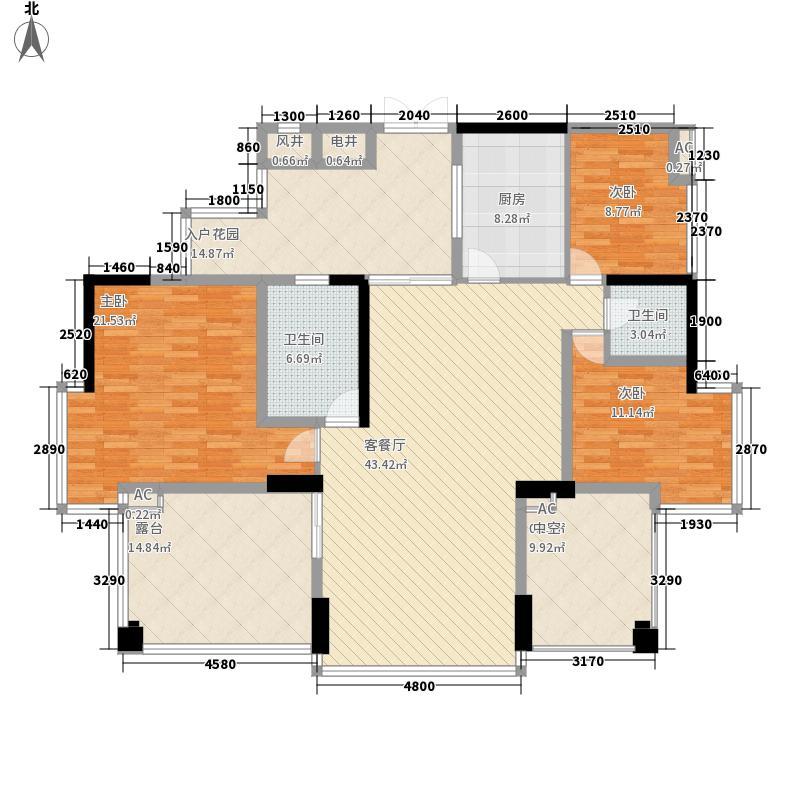颐和盛世133.00㎡颐和盛世户型图盛景台7#楼3室2厅2卫1厨户型3室2厅2卫1厨