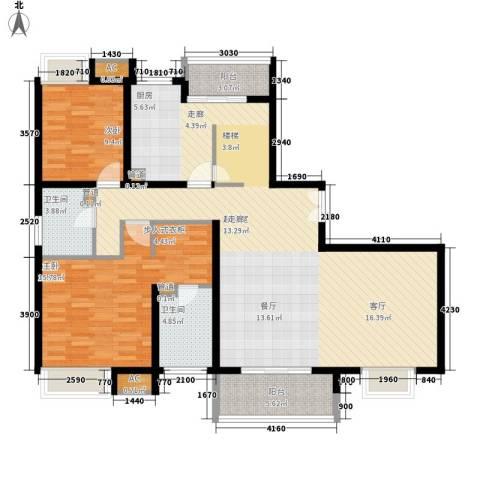 万源城乐斯生活会馆2室0厅2卫0厨243.00㎡户型图