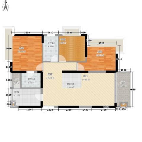 左岸美邻2室0厅2卫1厨125.00㎡户型图