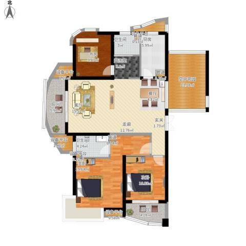 绍兴天下3室1厅2卫1厨174.00㎡户型图
