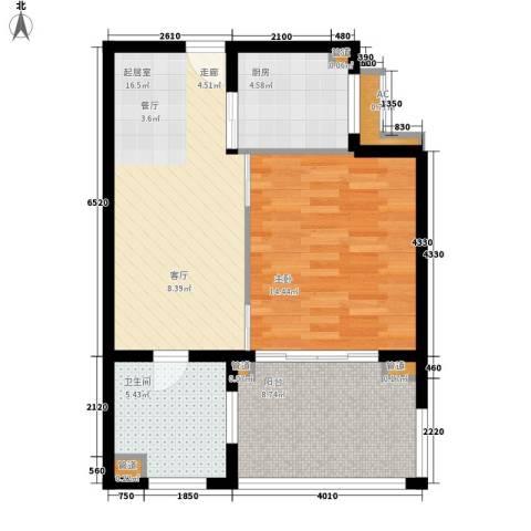 石梅山庄1室0厅1卫1厨57.00㎡户型图