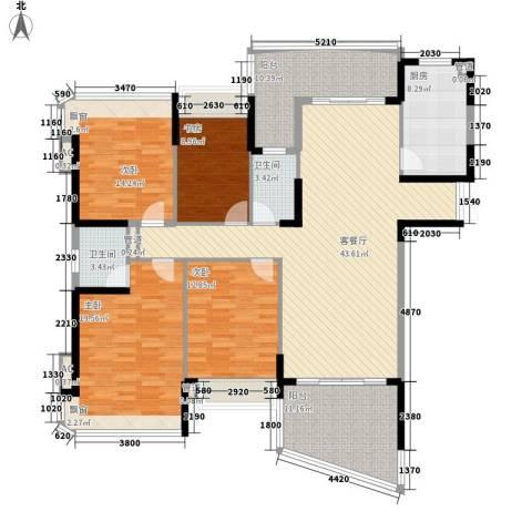 南村兴业小区4室1厅2卫1厨193.00㎡户型图