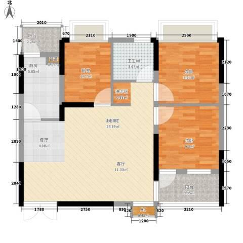 左岸美邻2室0厅1卫1厨96.00㎡户型图