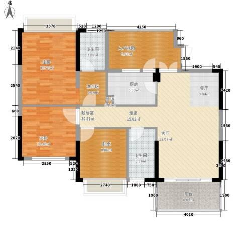 左岸美邻2室0厅2卫1厨129.00㎡户型图